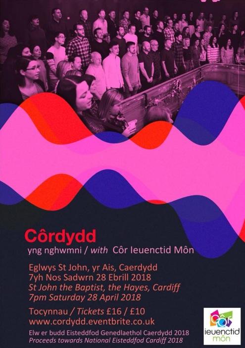 Cyngerdd 28 Ebrill 2018